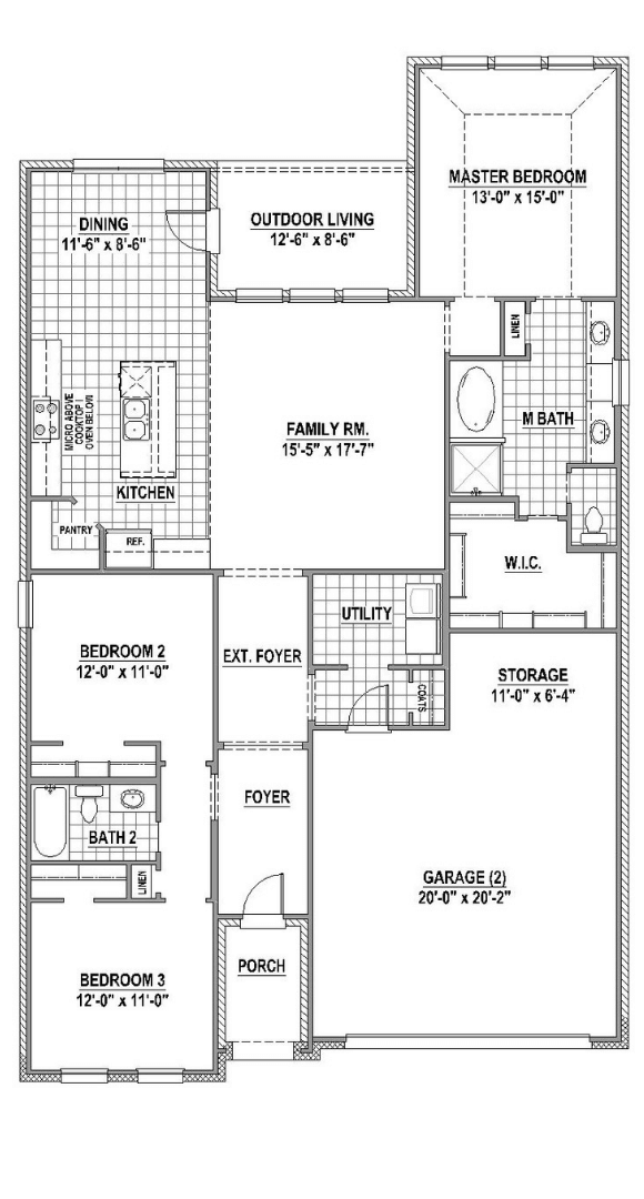 American Legend Plan 1519 Floorplan in Canyon Falls