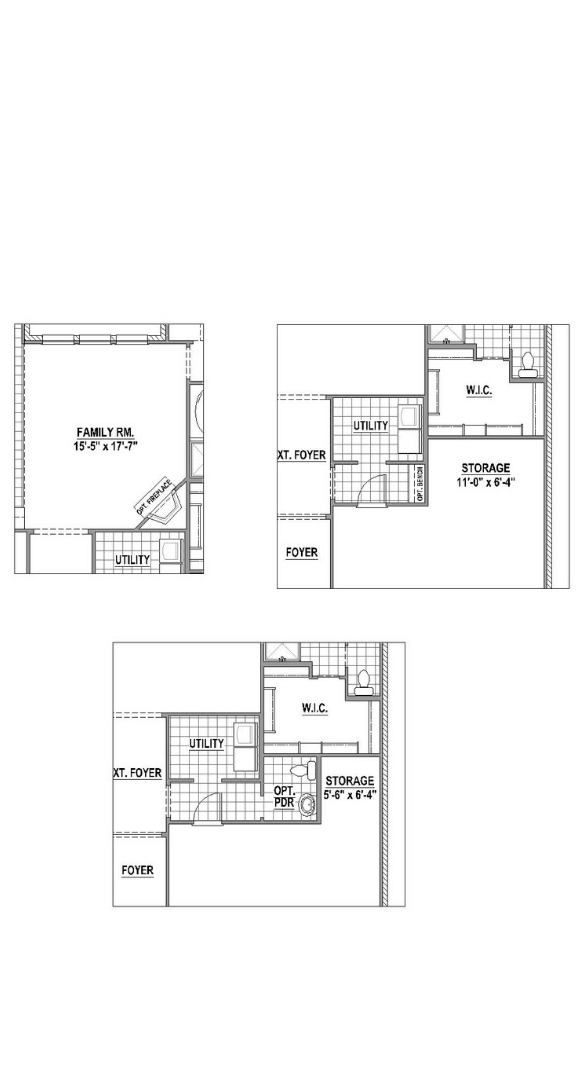 American Legend Plan 1519 Floorplan Options in Canyon Falls