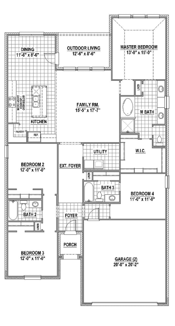 American Legend Plan 1520 Floorplan in Canyon Falls