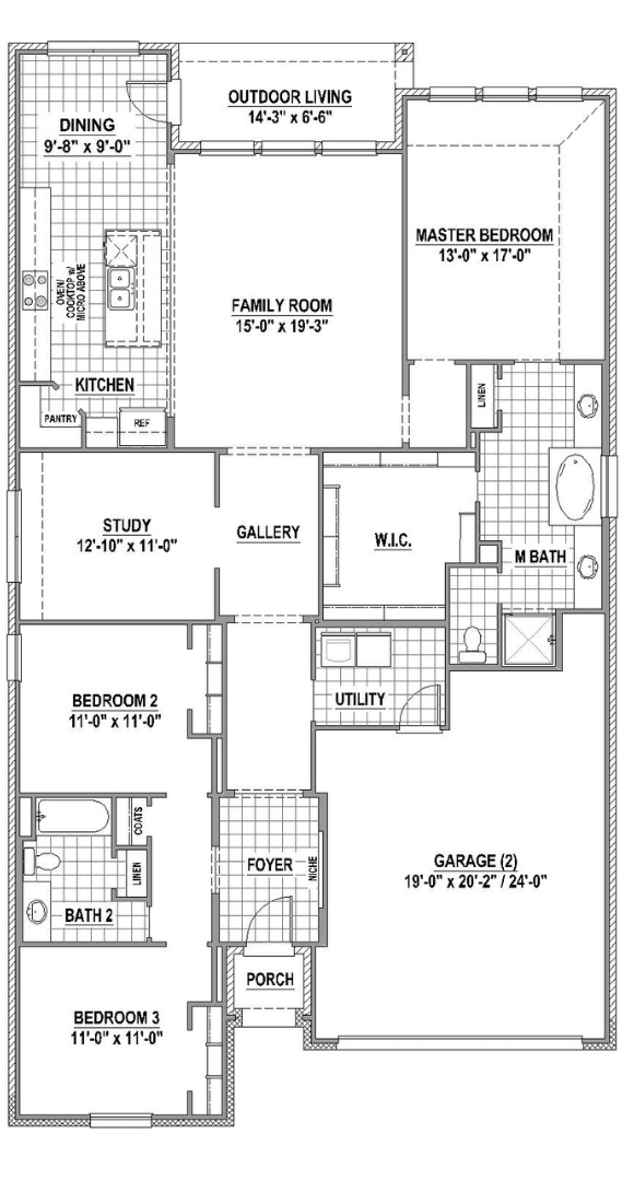 American Legend Plan 1521 Floorplan in Canyon Falls