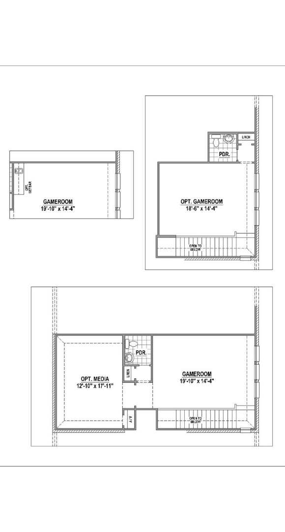 American Legend Plan 1521 Floorplan Options in Canyon Falls