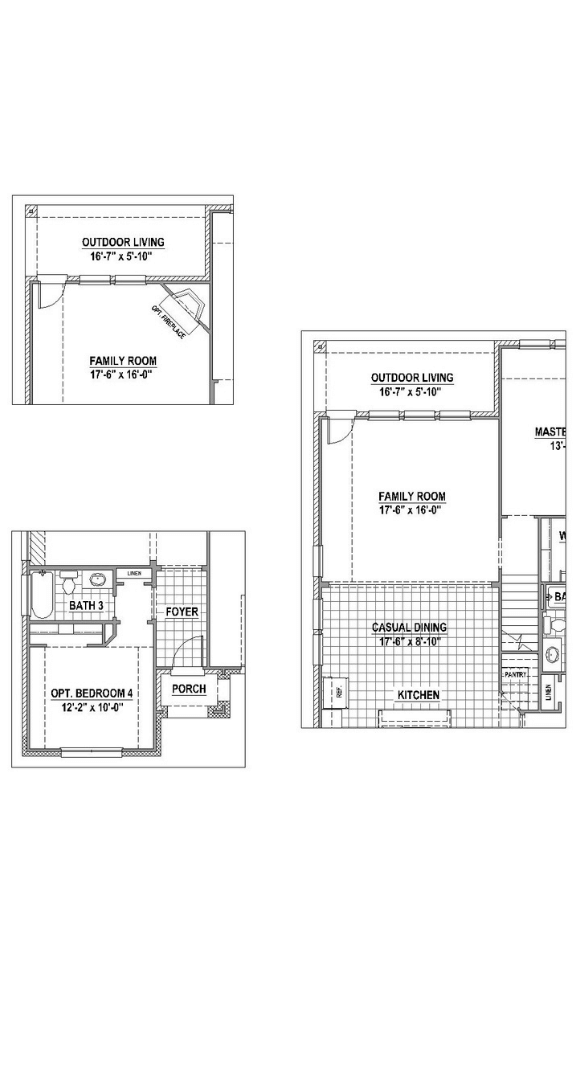 American Legend Plan 1522 Floorplan Options 2 in Canyon Falls