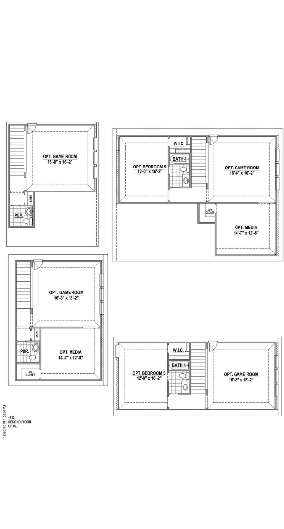 American Legend Plan 1522 Floorplan Options in Canyon Falls