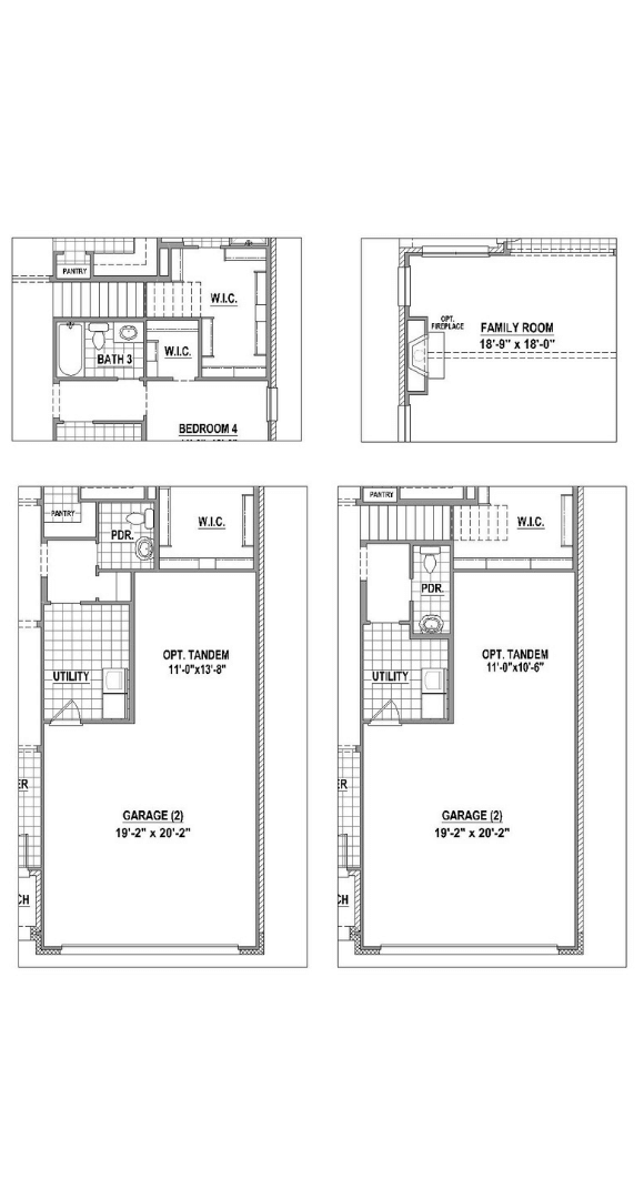 American Legend Plan 1523 Floorplan Options in Canyon Falls