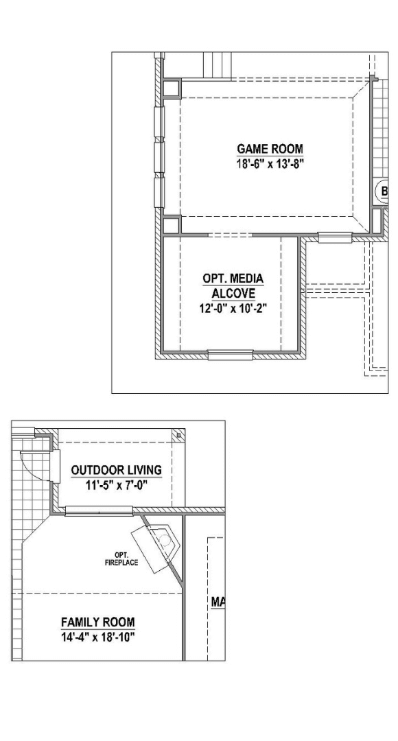 American Legend Plan 1524 Floorplan Options in Canyon Falls