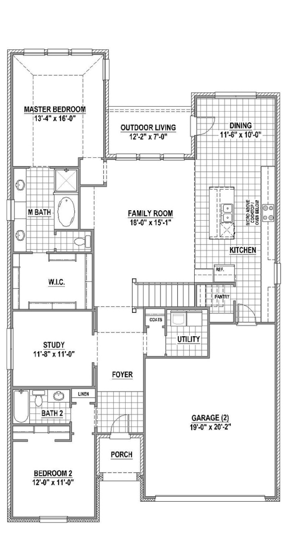 American Legend Plan 1525 Floorplan 1 in Canyon Falls