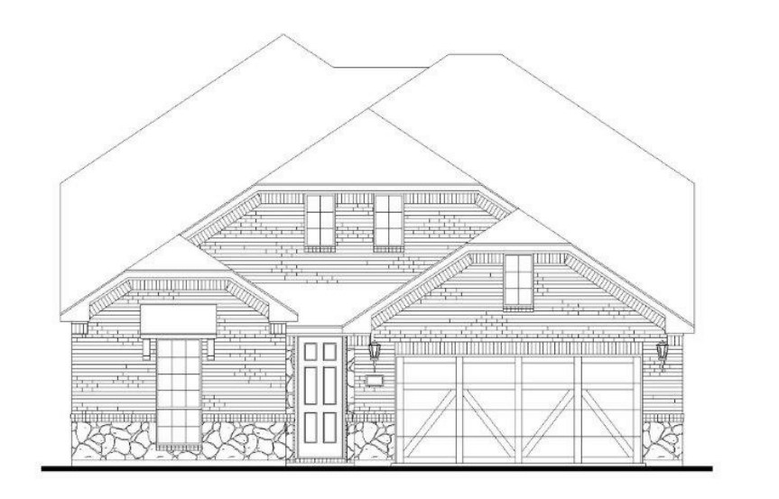 American Legend Plan 1527 Elevation B with Stone in Canyon Falls