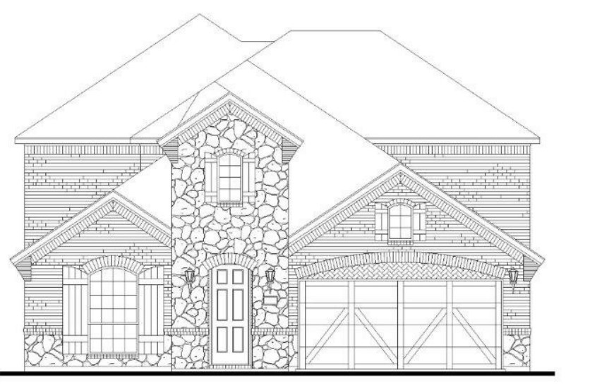 American Legend Plan 1527 Elevation C with Stone in Canyon Falls