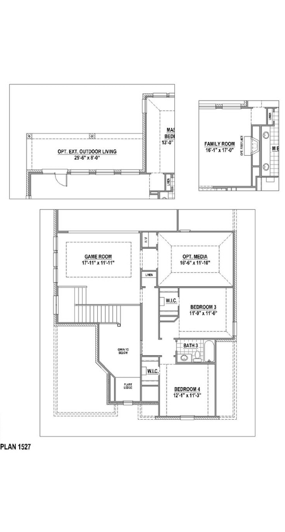 American Legend Plan 1527 Floorplan Options in Canyon Falls