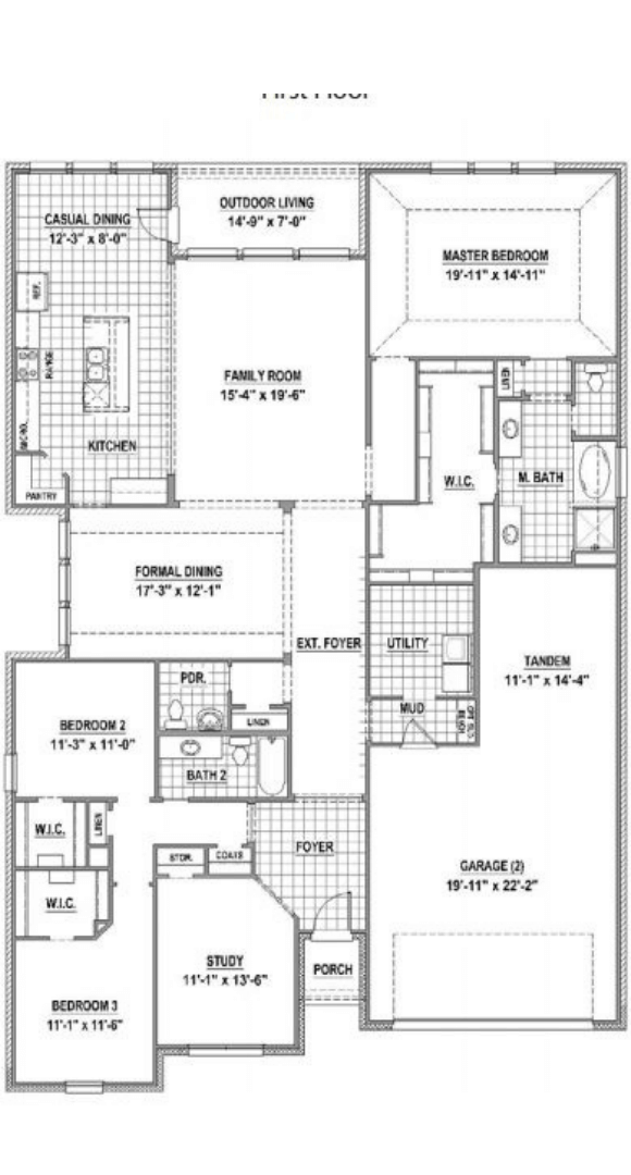 American Legend Homes Plan 1685 Floorplan in Canyon Falls