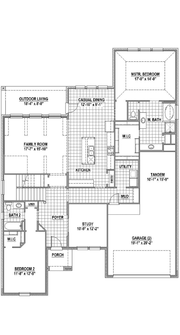 American Legend Homes Plan 1686 Floorplan in Canyon Falls