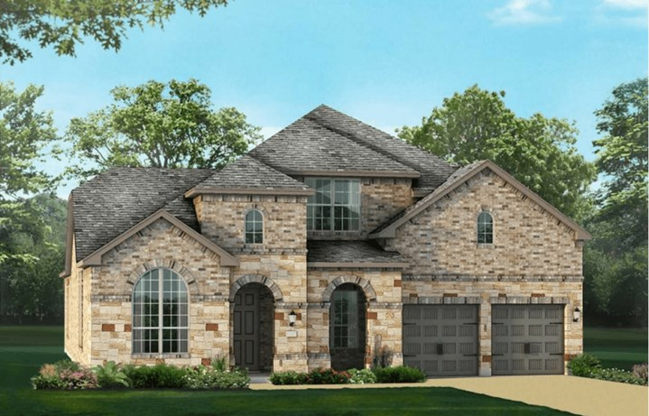 Highland Homes Plan 246 Elevation B in Canyon Falls