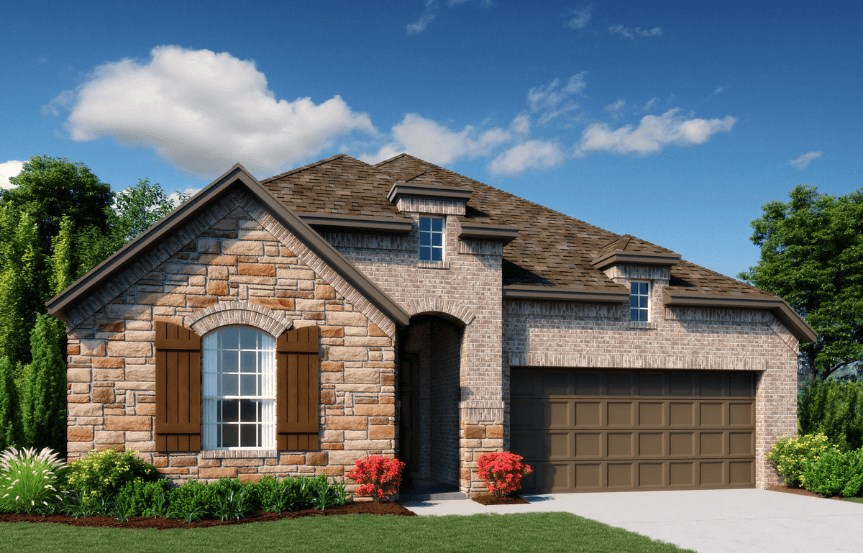 Ashton Woods Homes Plan Emory Elevation B in Canyon Falls