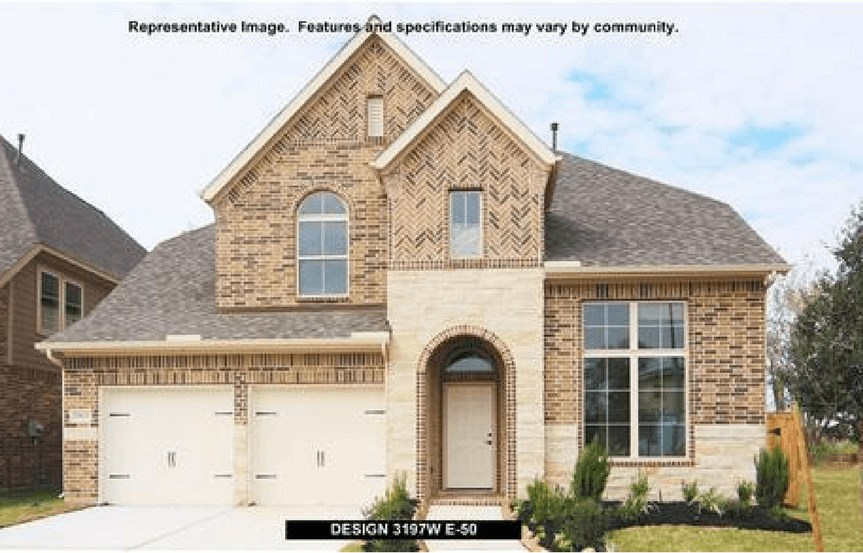 Perry Homes Plan 3197 Elevation E50 in Canyon Falls