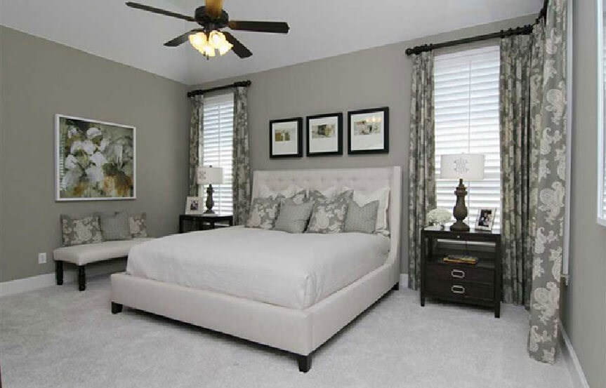 Highland Homes Plan 926 Master Bedroom in Canyon Falls