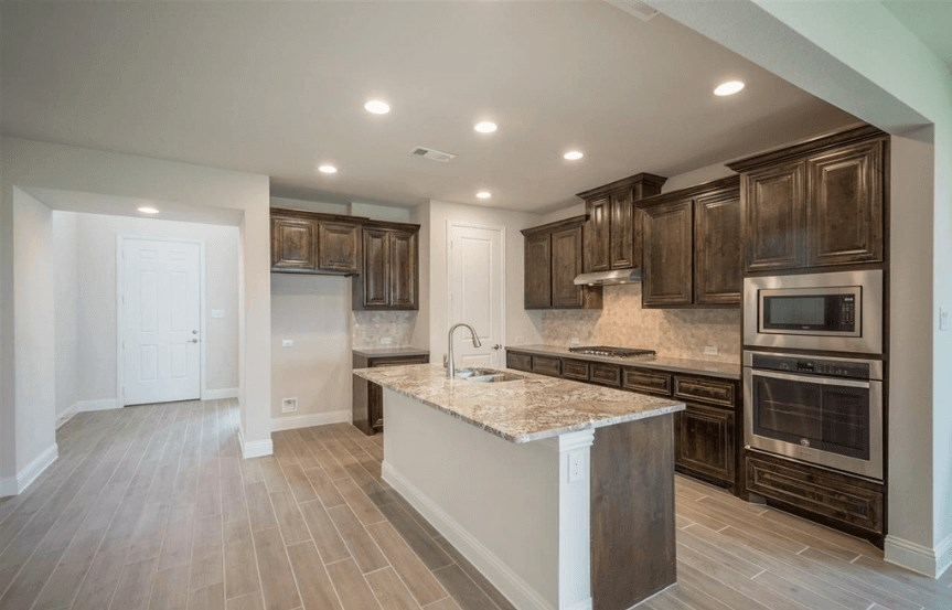 Ashton Woods Plan San Angelo Elevation Kitchen 2 in Canyon Falls