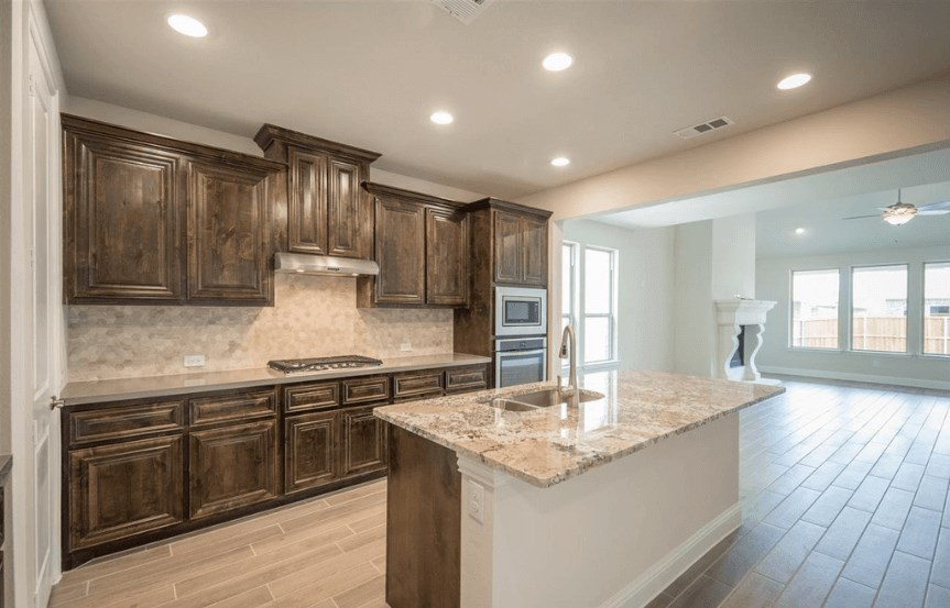 Ashton Woods Plan San Angelo Elevation Kitchen 4 in Canyon Falls