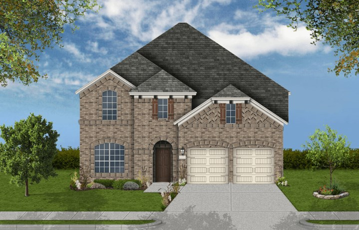 Coventry Homes Plan 3391 Elevation A in canyon Falls