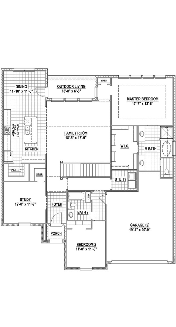 American Legend Homes Floorplan 1689 in Canyon Falls