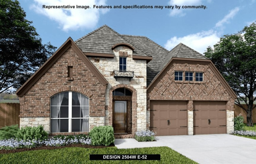 Perry Homes Plan 2504W Elevation in Canyon Falls