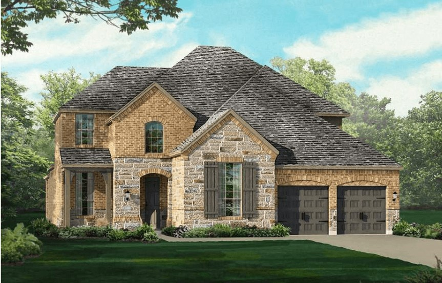Highland Homes Plan 926 Elevation A in Canyon Falls
