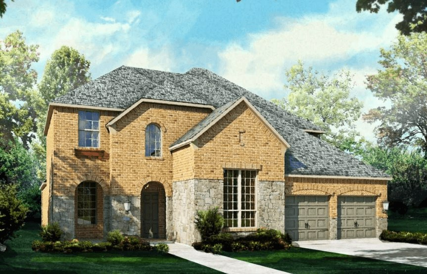 Highland Homes Plan 926 Elevation B in Canyon Falls