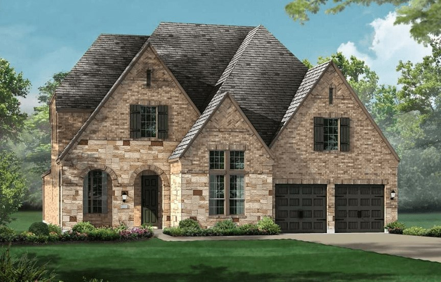 Highland Homes Plan 926 Elevation D in Canyon Falls