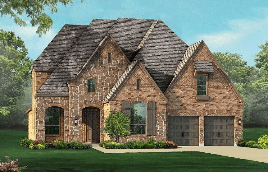 Highland Homes Plan 926 Elevation E in Canyon Falls