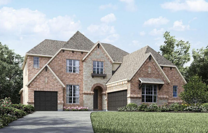 Drees Homes Plan Bracken lll Elevation 1 in Canyon Falls