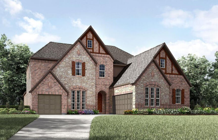 Drees Homes Plan Bracken lll Elevation 2 in Canyon Falls