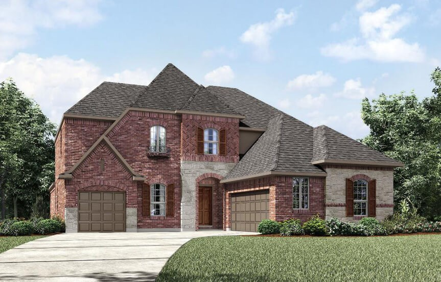 Drees Homes Plan Bracken lll Elevation 3 in Canyon Falls