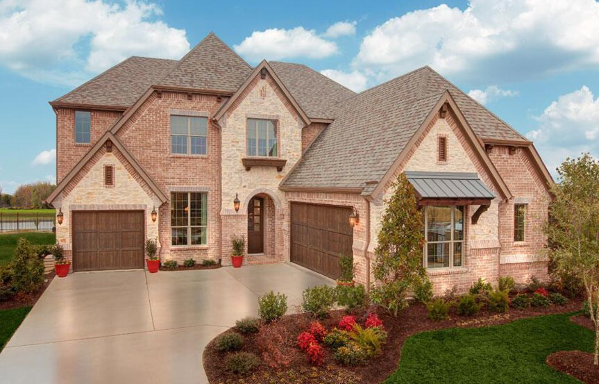 Drees Homes Plan Bracken lll Elevation A in Canyon Falls