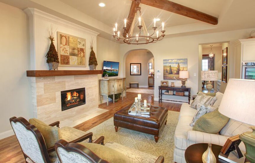 Drees Homes Plan Bracken lll Family Room in Canyon Falls