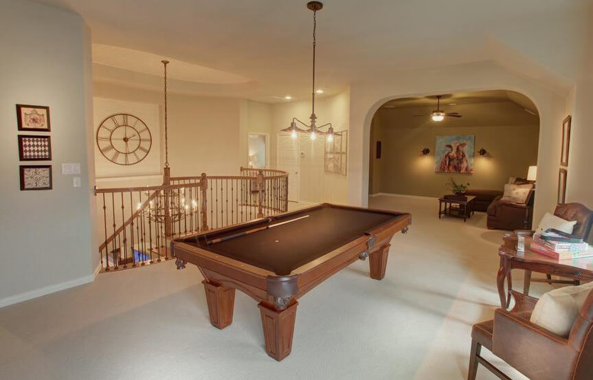 Drees Homes Plan Bracken lll Game Room in Canyon Falls