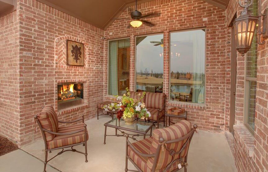 Drees Homes Plan Bracken lll Patio in Canyon Falls