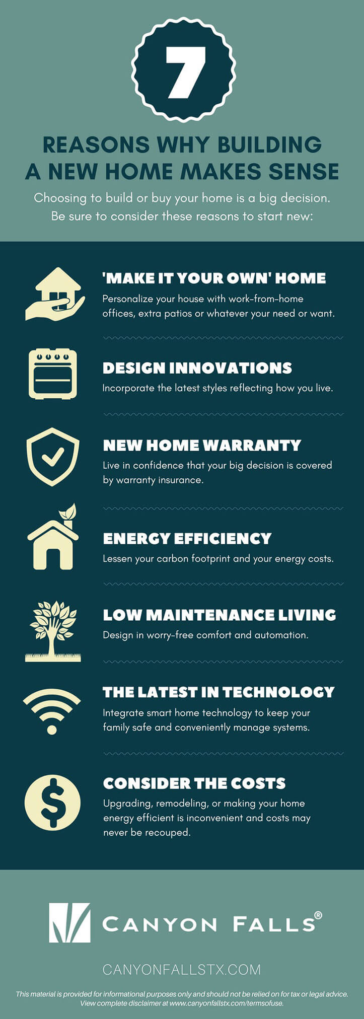 Infographic: 7 resons why building a new home makes sense