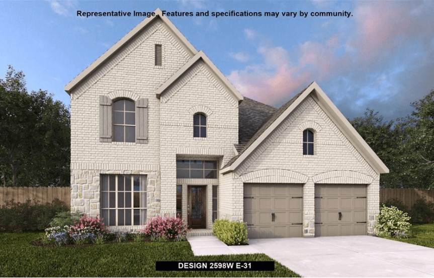 Perry Homes Plan 2598W Elevation in Canyon Falls