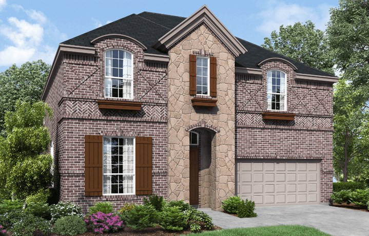 Landon Homes Plan Wellington Elevation C in Canyon Falls
