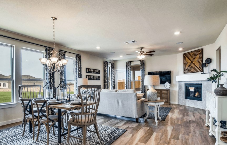KHovnanian Homes Plan Brikdale ll Dining in Canyon Falls