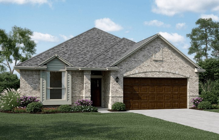 KHovnanian Homes Plan Brikdale ll Elevation A in Canyon Falls