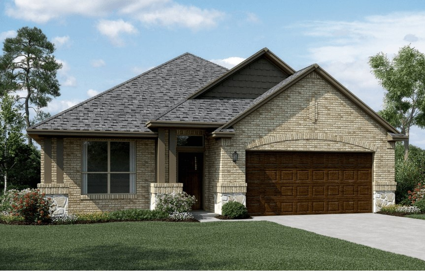 KHovnanian Homes Plan Brikdale ll Elevation C in Canyon Falls