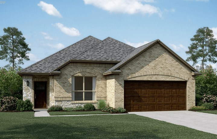 KHovnanian Homes Plan Dover ll Elevation B in Canyon Falls