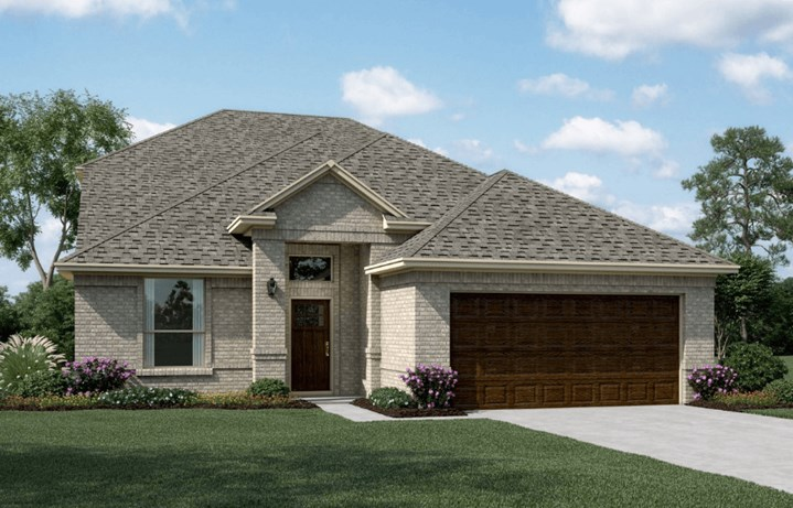 KHovnanian Homes Plan Delaware ll Elevation A  in Canyon Falls