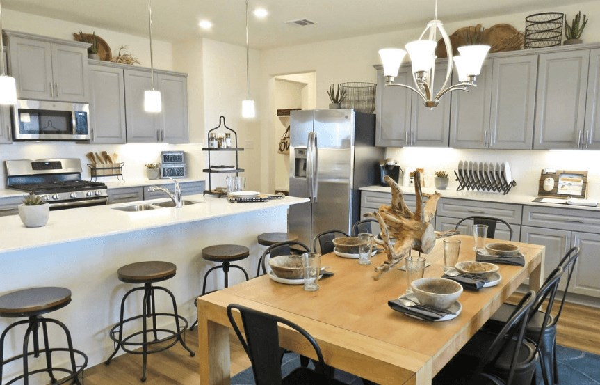 Khovnanian Homes Plan Bridgeport Dining in Canyon Falls