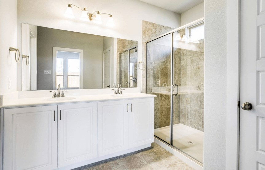 Khovnanian Homes Plan Sanderson Master Bath in Canyon Falls