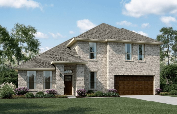KHovnanian Homes Plan Brentwood ll Elevation A in Canyon Falls