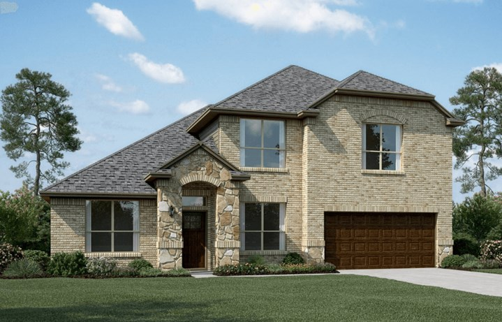 KHovnanian Homes Plan Brentwood ll Elevation B in Canyon Falls