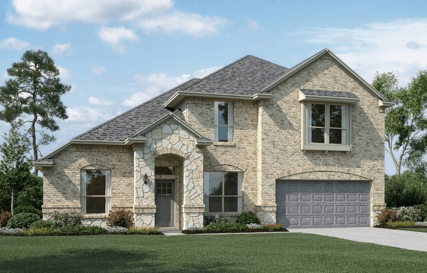 KHovnanian Homes Plan Brentwood ll Elevation C in Canyon Falls