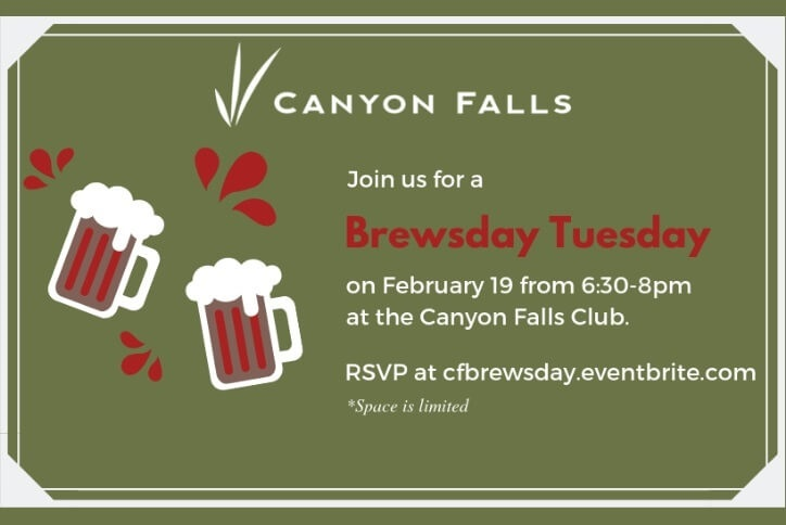 Canyon Falls Community Brewsday Tuesday Resident Event Northlake, TX