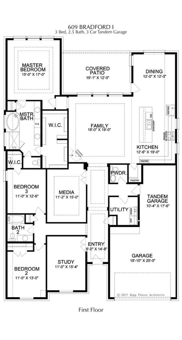 Landon Homes Plan 609 Bradford I First Floor in Canyon Falls